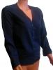 Жакет женский Манго темно-синий с голубой отстрочкой